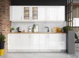 Kuchyňská linka FARLEY 260 cm bílá lesk