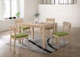 Jídelní set stůl VAŠEK+židle VANDA 1+4 dub bělený
