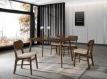 Jídelní set stůl IVO+židle TARA 1+4 ořech