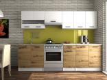 Kuchyňská linka LUIGI III 200/260 bílá/dub artisan