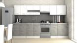 Kuchyňská linka LUIGI III 260/320 bílá/beton