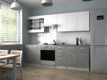 Kuchyňská linka PAMIS 200/260 bílá/beton