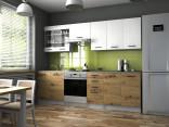 Kuchyňská linka PAMIS 200/260 bílá/dub artisan