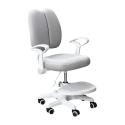 Rostoucí židle ANAIS, s podnoží a šlemi, šedá/bílá