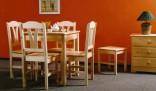 Jídelní stůl 78 x 78 cm, lak (740)