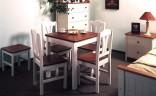 Jídelní stůl, bílo-hnědá 78 x 78 cm (740W)