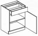 Dolní skříňka se zásuvkou 60 cm BLANKA D60/S1 dub sonoma/skořicová akácie
