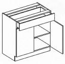 Dolní skříňka se zásuvkou 80 cm BLANKA D80/S1 dub sonoma/skořicová akácie