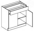 Dolní skříňka se zásuvkou 80 cm Moreno D80/S1
