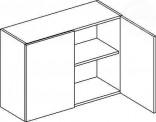 Horní skříňka dvojdveřová 80 cm Moreno W80/58