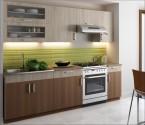 Kuchyňská linka Blanka  180/240 cm dub sonoma/skořicová akácie