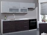 Kuchyňská linka POSNANIA 180/240 cm tmavé/světlé zebrano