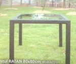 Stůl ratan 80 x 80 cm